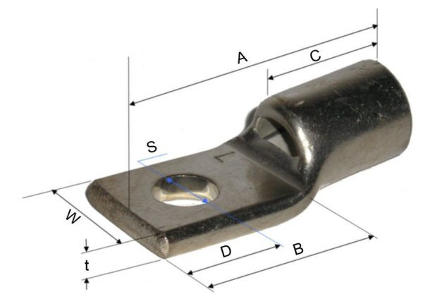 "Corner type ""D"" standard palm enhanced heavy duty terminals"